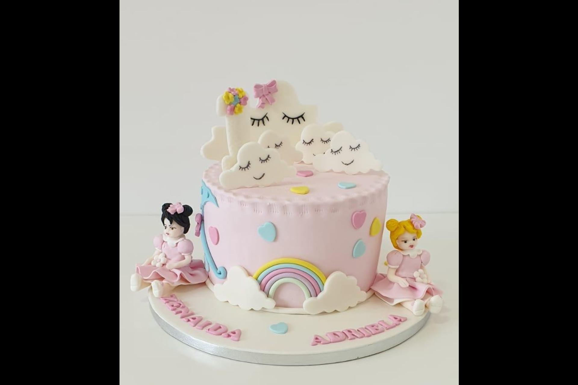 Tort Aniversare Fetite - Tematica Papusi